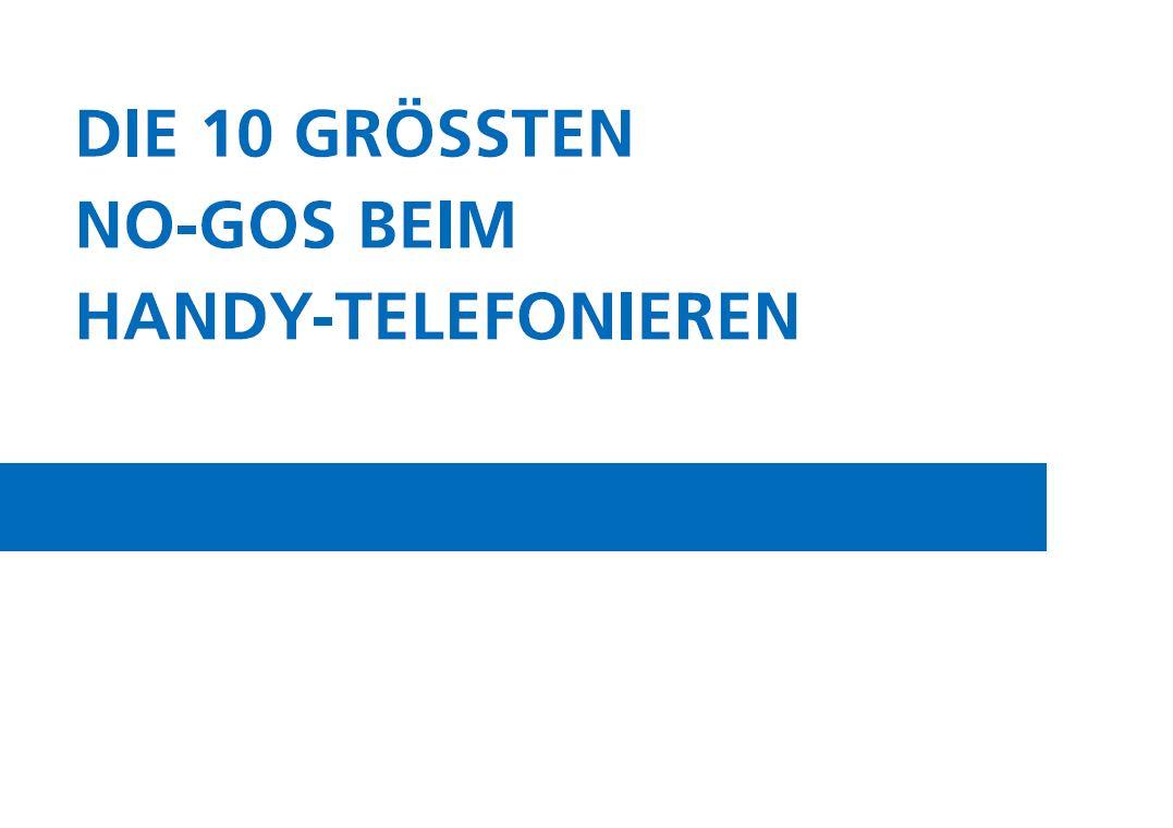 Die 10 Handy Sünden