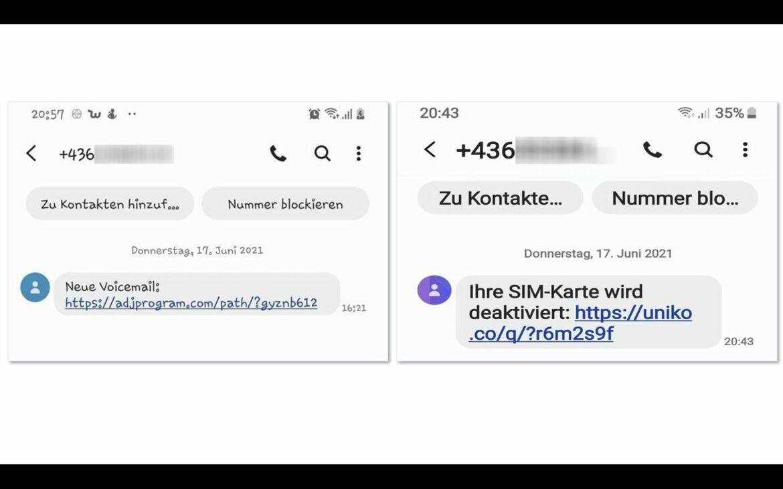 """FMK-Warnung: Neue Fake-SMS """"Voice-Mail"""" und """"SIM-Karte deaktiviert"""" im Umlauf"""